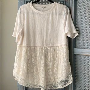 Lauren Conrad lace shirt